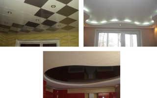Подвесной потолок из гипсокартона своими руками — делаем навесную конструкцию из ГКЛ по фото