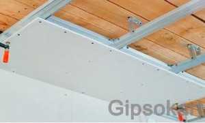 Упрощенная конструкция гипсокартонного потолка на каркасе из дерева