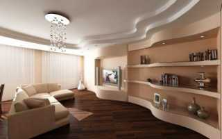 Отделка гостиной гипсокартоном, гипсокартонные конструкции на стене своими руками, комната в класическом стиле, сделанная ГКЛ, инструкция, фото и видео-уроки