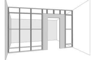 Стена из гипсокартона с дверью своими руками: видео-инструкция по установке, как сделать правильно, фото