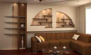 Ниши из гипсокартона в гостиной: видео-инструкция по монтажу своими руками, фото