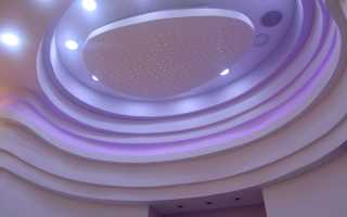 Фигурные потолки из гипсокартона своими руками — фото и подробное описание этапов монтажа