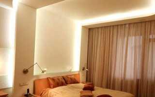 Потолки из гипсокартона в спальне: как своими руками сделать гипсокартонные конструкции с подсветкой, фото красивых дизайнов, видео