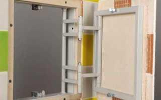 Стальной или алюминиевый люк под плитку для сантехнических шкафов и экранов из гипсокартона