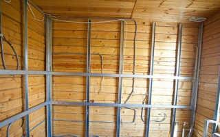 Гипсокартон в деревянном доме