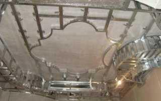 Каркас для потолка из гипсокартона: видео-инструкция по монтажу своими руками, как сделать потолочную подвесную конструкцию, фото