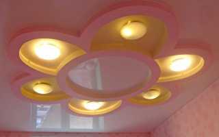 Цветок из гипсокартона на потолке, цветные рисунки из ГКЛ своими руками: инструкция, фото- и видео-уроки