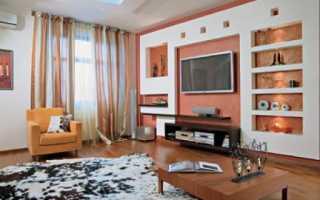 Конструкция из гипсокартона под телевизор, как закрепить ТВ на стене из ГКЛ, изделия из гипсокартонных листов, дизайн своими руками: инструкция, фото и видео-уроки