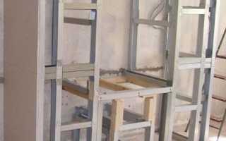 Металлический каркас для гипсокартона, облицовка стен ГКЛ по обрешетке из металла своими руками: инструкция, фото и видео-уроки