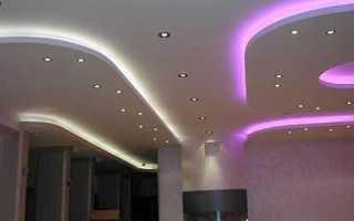 Подвесной потолок из гипсокартона с подсветкой — фото конструкций, видео и инструкция по монтажу своими руками