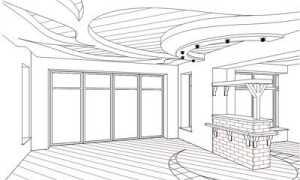 Эскизы потолков из гипсокартона: видео-инструкция по монтажу своими руками, фото