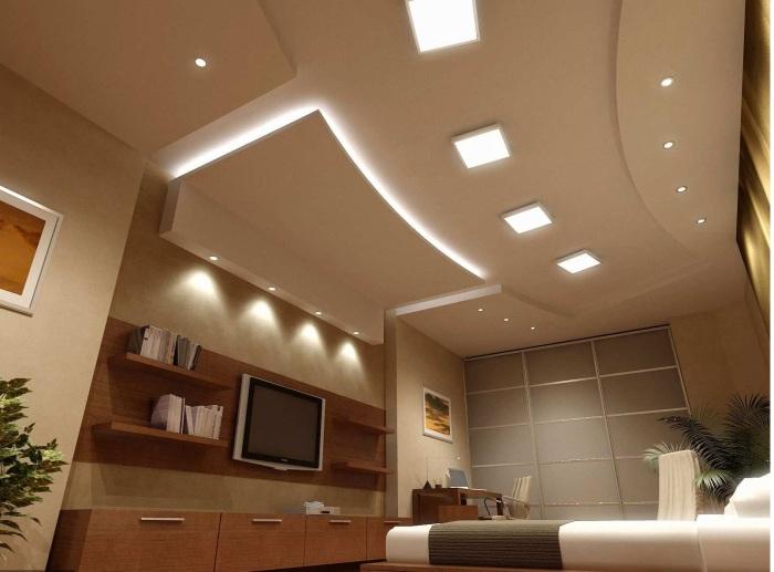 Дизайн многоуровневого потолка