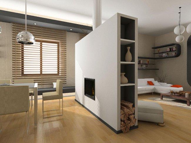 Комната, зонированная на два помещения