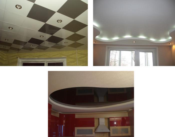 Примеры дизайна подвесных потолков