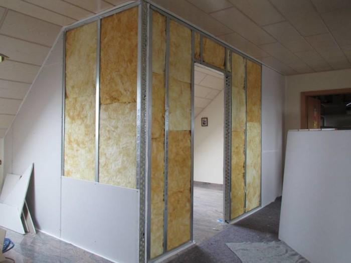 Утепление и обшивка стены гипсокартоном