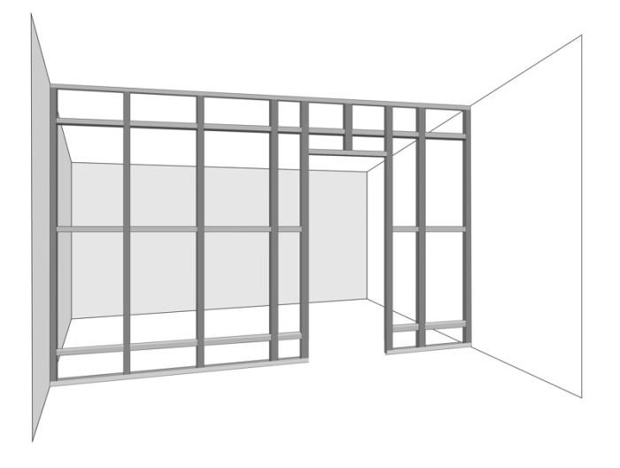 Проектирование каркаса из гипсокартона