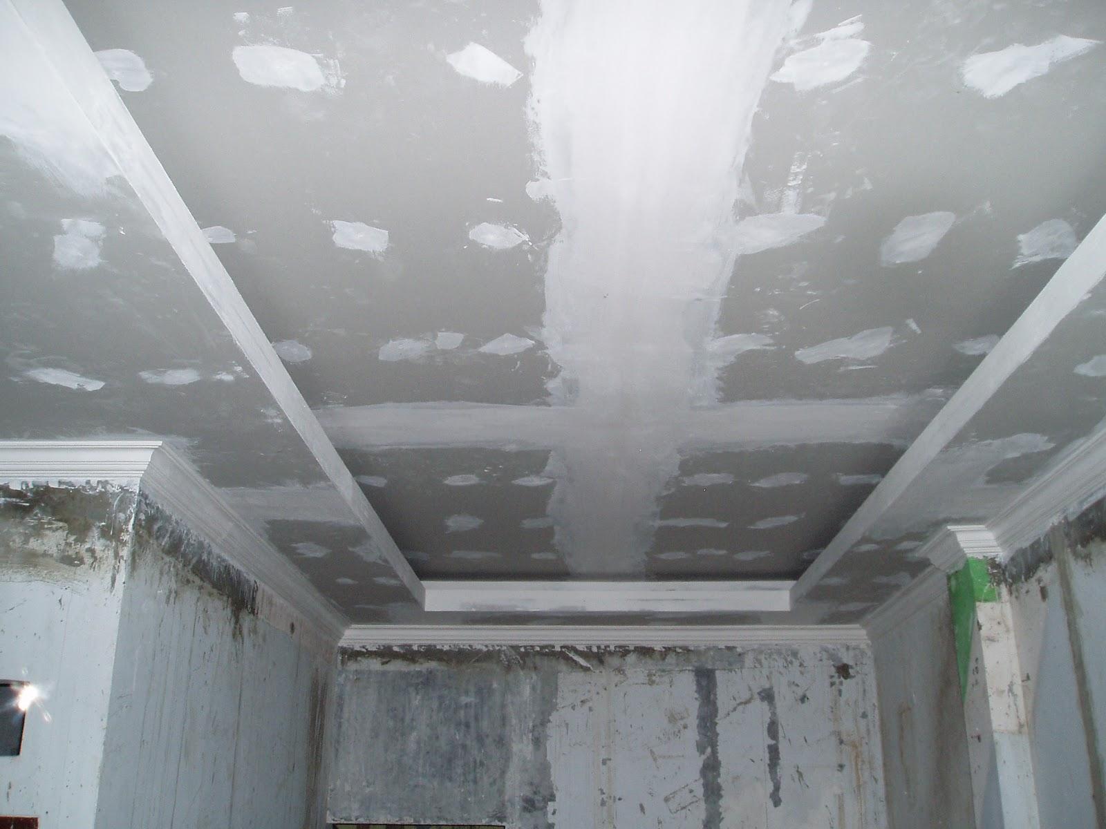 Потолок, обшитый гипсокартоном
