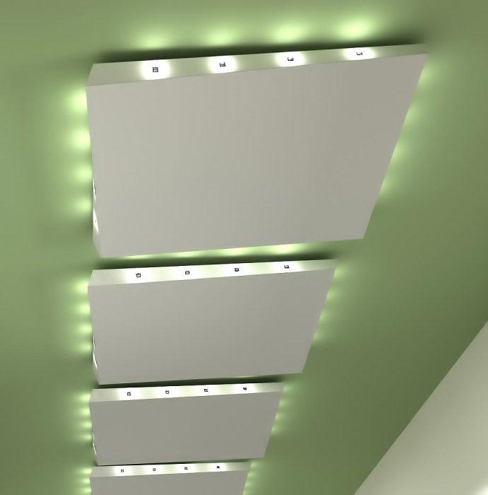 Дизайнерское решение подсветки навесного потолка