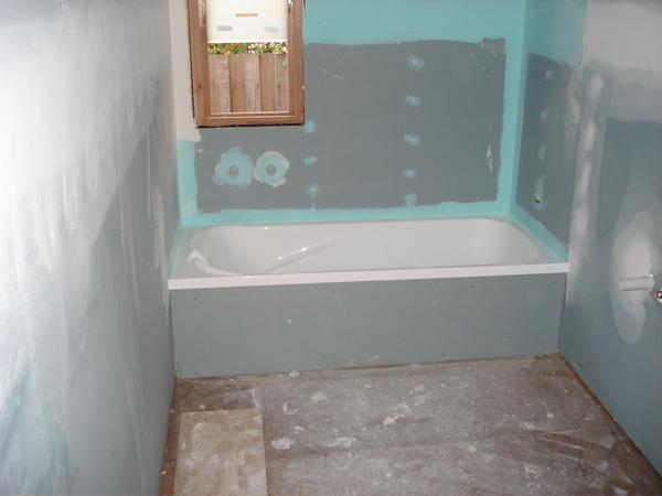 Ванна, отделанная ГКЛ