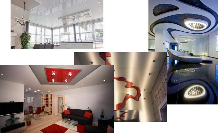 Креативные примеры подвесных потолков