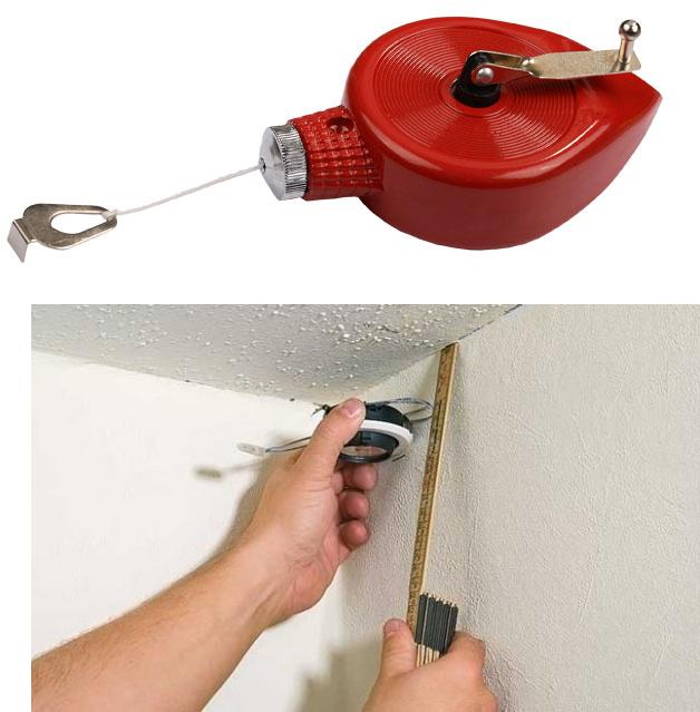 Разметка потолка перед обшивкой