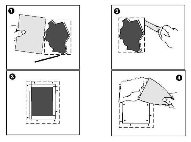 Урок по заделыванию дырки в гипсокартоне