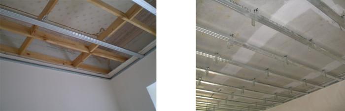 Разновидности каркасов для потолка