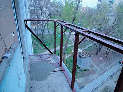Балконный каркас под стеклопакеты