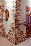 Декорирование стены плиткой.
