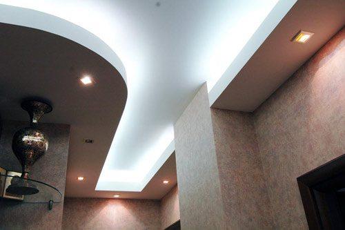 дизайн подвесного потолка из гипсокартона