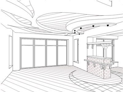 Дизайн проект потолка
