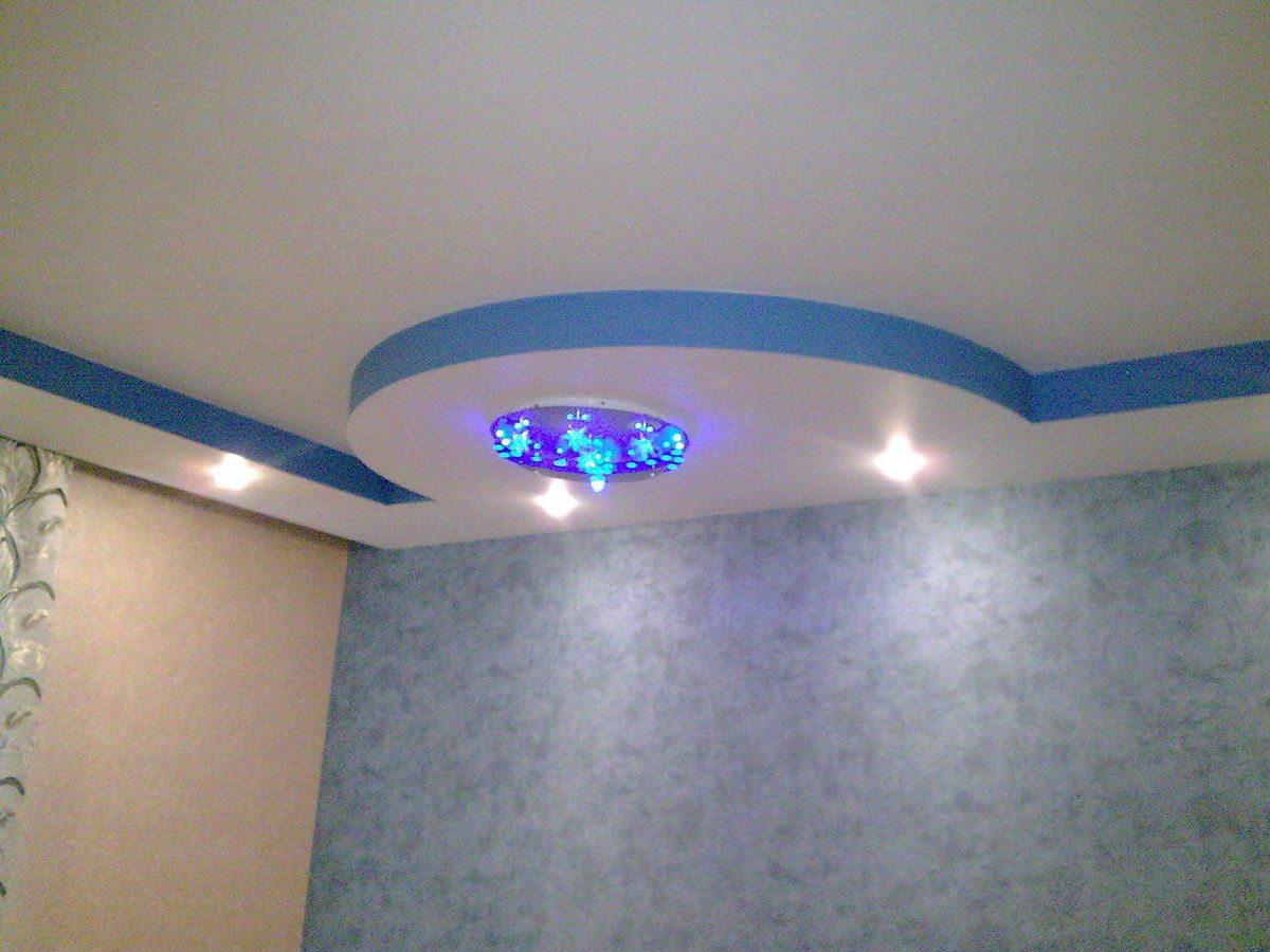 двухъярусные потолки из гипсокартона