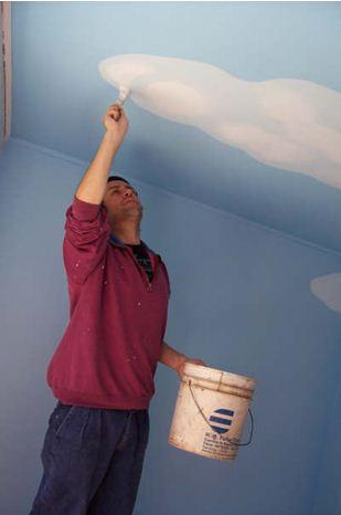 Эта очень популярная краска - лучшее решение для потолка и стен из гипсокартона.
