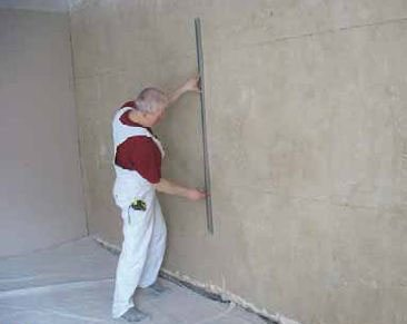 Фото выполнения разметки стен.