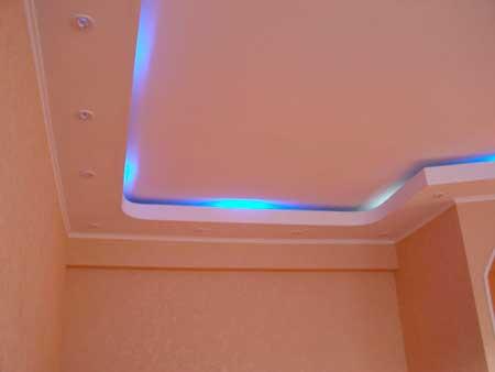 как красить потолок из гипсокартона