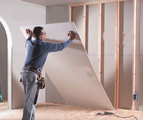 как построить стенку из гипсокартона