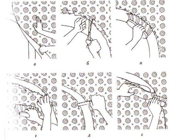 Как правильно клеить обои на арку