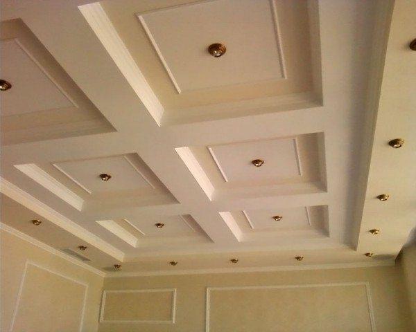 как сделать красивый потолок из гипсокартона