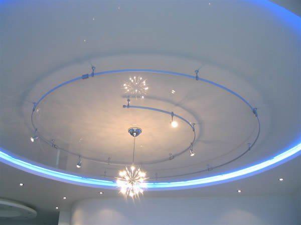 как сделать круг на потолке из гипсокартона