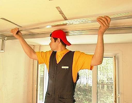как сделать потолок из гипсокартона видео