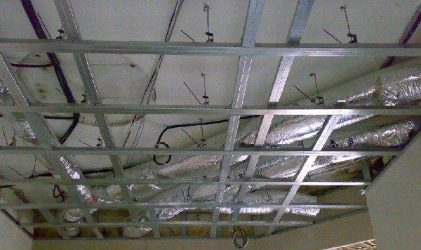 как установить на потолок гипсокартон