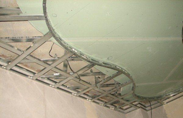 Каркас под криволинейный потолок