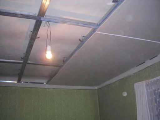 Каркас под одноуровневый потолок