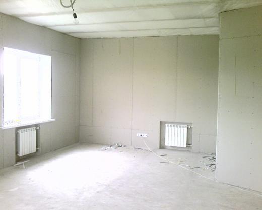 Комната, оклеенная листами ГКЛ