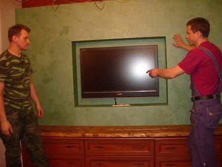 конструкции под телевизор из гипсокартона