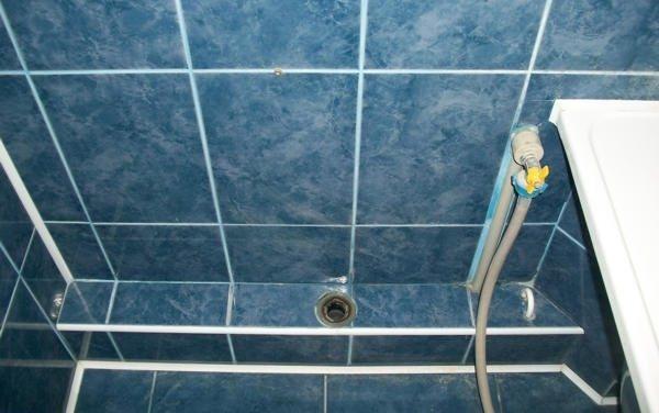 Короб из ГКЛ для труб в ванной комнате