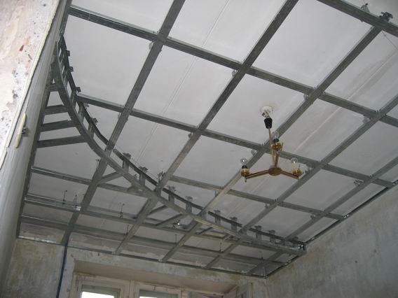 короб на потолке из гипсокартона