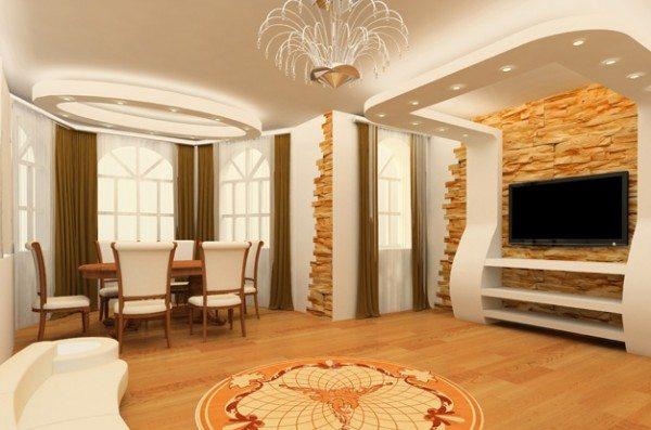 Красивые потолки из гипсокартона