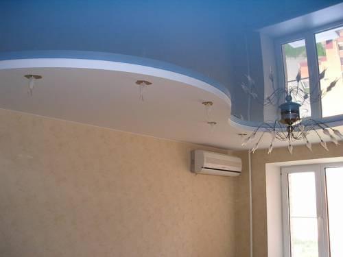 криволинейные потолки из гипсокартона