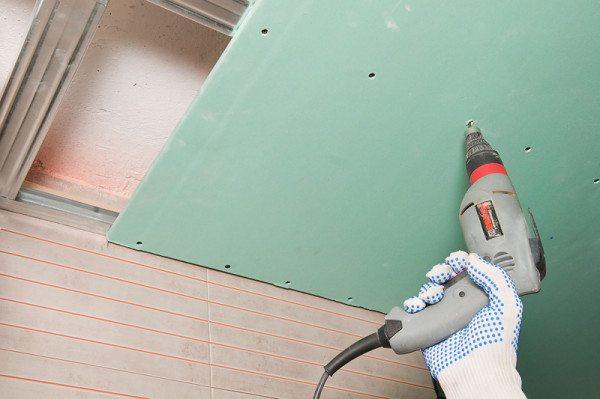 Монтаж гипсокартона к конструкции